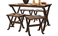 Standard Furniture Reynolds Dining Table & 4 Stools