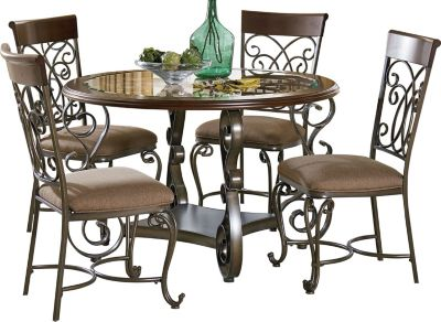 Standard Furniture Bombay Dining Table & 4 Side Chairs