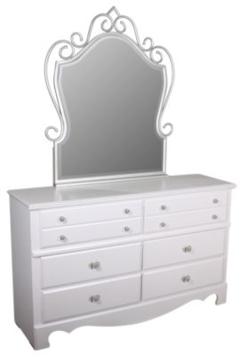 Standard Furniture Spring Rose Dresser with Mirror