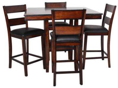 Standard Furniture Pendleton Counter Table & 4 Stools