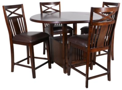 Standard Furniture Sonoma Counter Table & 4 Stools