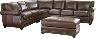 Steve Silver Henry 100% Leather 4-Piece Sectional
