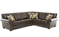 Steve Silver Escher 100% Leather 2-Piece Sectional