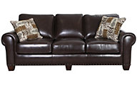 Steve Silver Escher 100% Leather Sofa