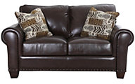 Steve Silver Escher 100% Leather Loveseat
