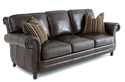 Steve Silver Chataeu 100% Leather Sofa