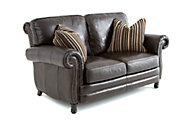 Steve Silver Chataeu 100% Leather Loveseat