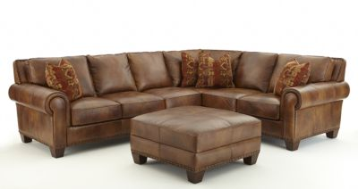 Steve Silver Silverado 100% Leather 2-Piece Sectional