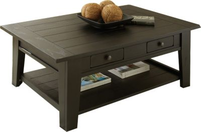 Steve Silver Liberty Antique Black Coffee Table