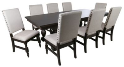 Steve Silver Leona Double Pedestal Table & 8 Chairs