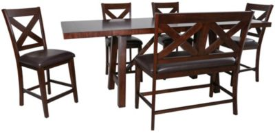 Steve Silver Clapton 6-Piece Counter-Height Dining Set