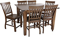 Steve Silver Hailee Counter Table & 6 Stools
