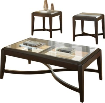 Steve Silver Mayfield Coffee Table & 2 End Tables