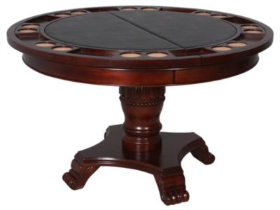 Steve Silver Tournament Game Table with Black Top