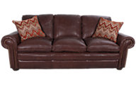 Steve Silver Yosemite 100% Leather Sofa