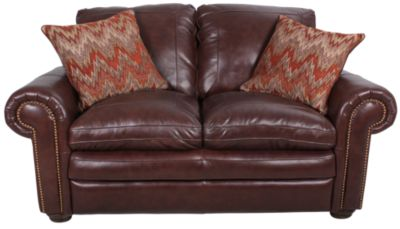 Steve Silver Yosemite 100% Leather Loveseat