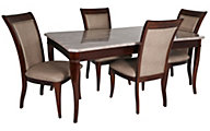 Steve Silver Marseille Marble Top Table & 4 Chairs