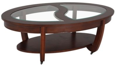 Steve Silver London Oval Coffee Table with Casters