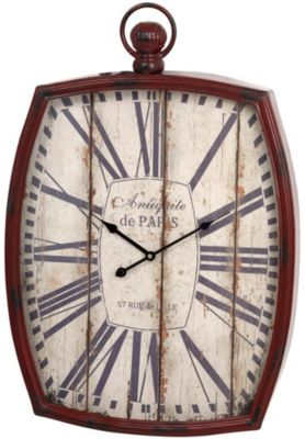 Stylecraft Distressed Metal Wall Clock