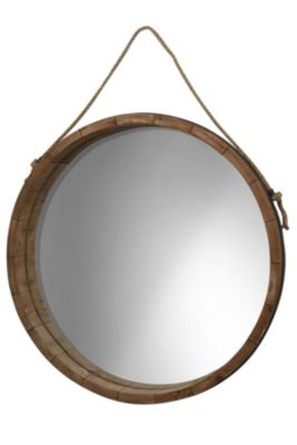 Stylecraft Wood Barrel Mirror