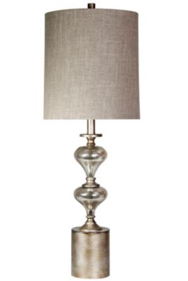 Stylecraft Mercury Silver Table Lamp