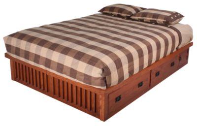 Surewood Oak Mission King Platform Bed Homemakers Furniture