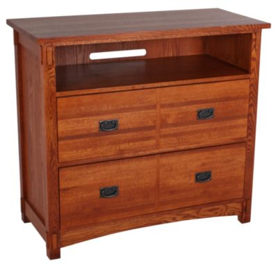 Surewood Oak Mission Entertainment Chest
