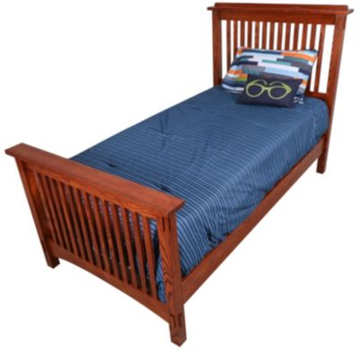 Surewood Oak Mission Twin Bed
