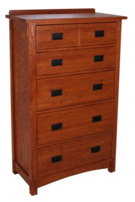 Surewood Oak Mission 5-Drawer Chest