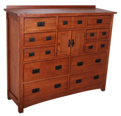 Surewood Oak Mission Mule Dresser Homemakers Furniture