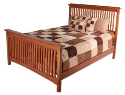 Surewood Oak Mission Queen Bed