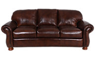 Thomasville Benjamin 100% Leather Sofa