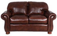 Thomasville Benjamin 100% Leather Loveseat