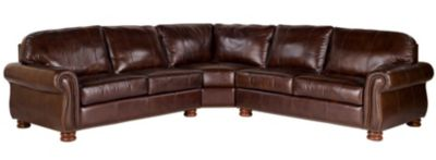 Thomasville Benjamin 100% Leather 3-Piece Sectional