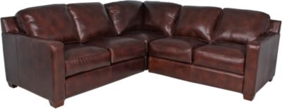 Thomasville Metro 100% Leather 3-Piece Sectional