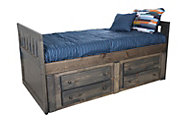 Trend Wood Bayview Rustic Gray Full Storage Bed