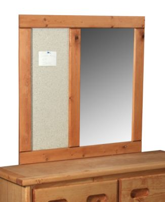 Trend Wood Bunkhouse Solid Pine Corkboard Mirror