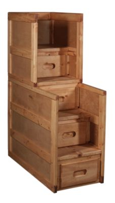 Trend Wood Bunkhouse Solid Pine Stairway Chest