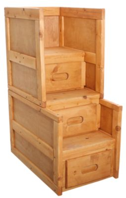 Trend Wood Bunkhouse Stairway Chest