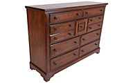 Vaughan Bassett Furniture Rustic Cherry Villa Dresser