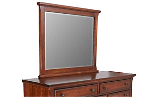 Vaughan Bassett Furniture Rustic Cherry Villa Mirror