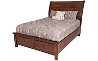 Vaughan Bassett Furniture Rustic Cherry Queen Storage Bed
