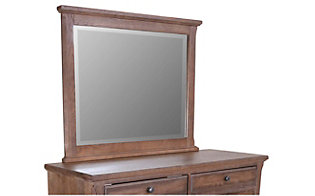 Vaughan Bassett Furniture Dark Oak Villa Mirror