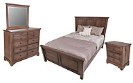 Vaughan Bassett Furniture Dark Oak 4-Piece Queen Bedroom Set