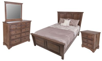 Vaughan Bassett Furniture Dark Oak 4-Piece King Bedroom Set