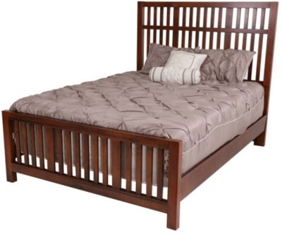 Vaughan Bassett Furniture Amish Cherry King Craftsman Bed