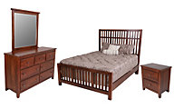 Vaughan Bassett Furniture Amish Cherry 4-Piece Queen Bedroom Set