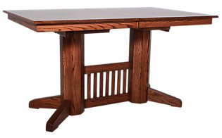 Woodco 1420 Collection Solid Oak Counter Table