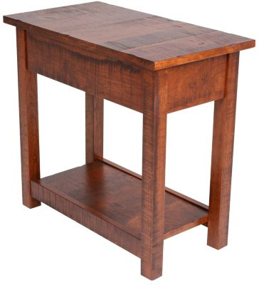 Woodco Cherry Loft Solid Oak Chairside Table