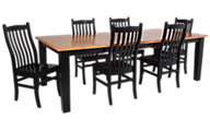 Woodco 7 Piece Solid Oak Dining Set